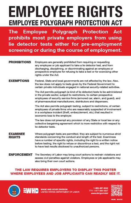 Employee Polygraph Protection Act Poster